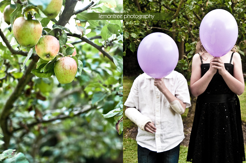 apples and balloons at summer wedding by totton photographer