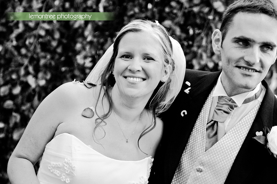 confetti at hampshire wedding