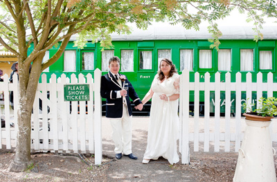 Tania & Nick - Horsebridge Station Wedding Photographer
