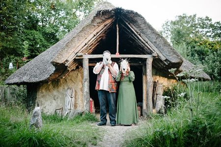 outdoor new forest handfasting ceremony lemontree