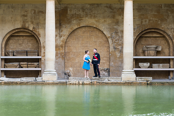 Lisa & Scott's romantic Roman Baths Wedding