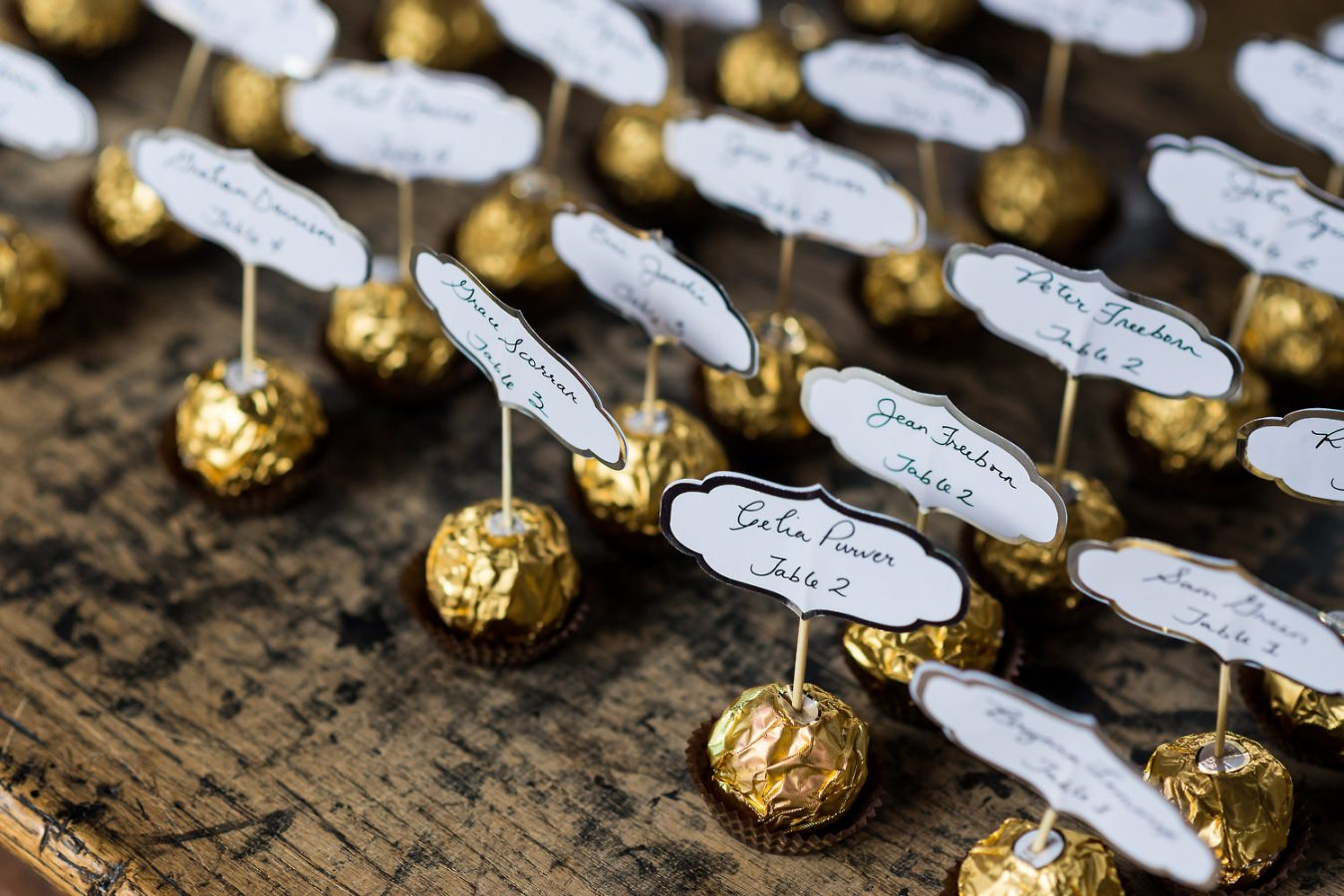 ferrero rocher table plan