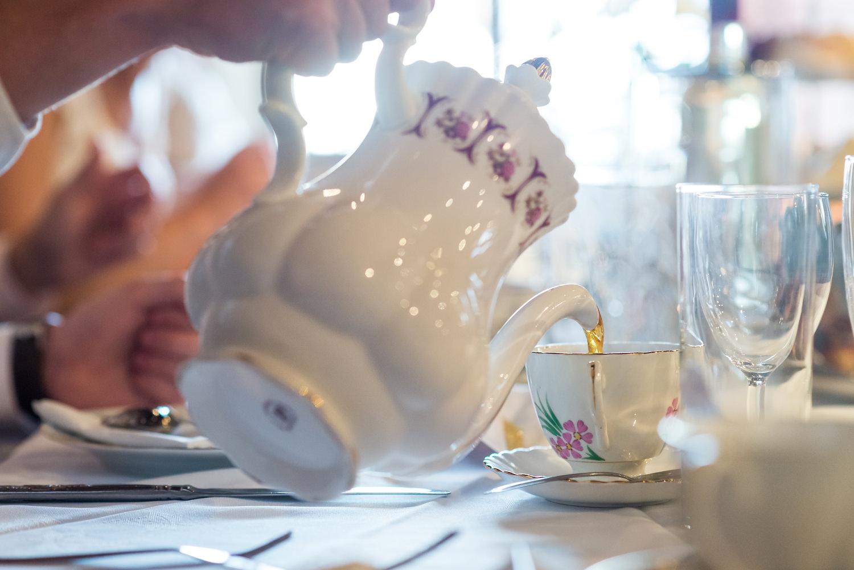 high tea at wedding