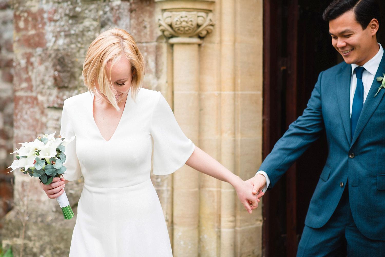Bride & Groom Leaving Church