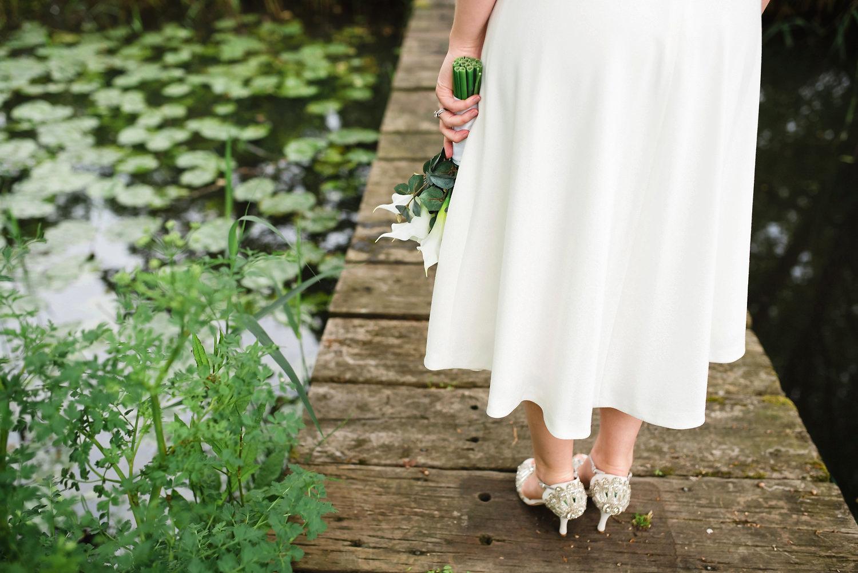 Brides shoes at Limewood Hotel