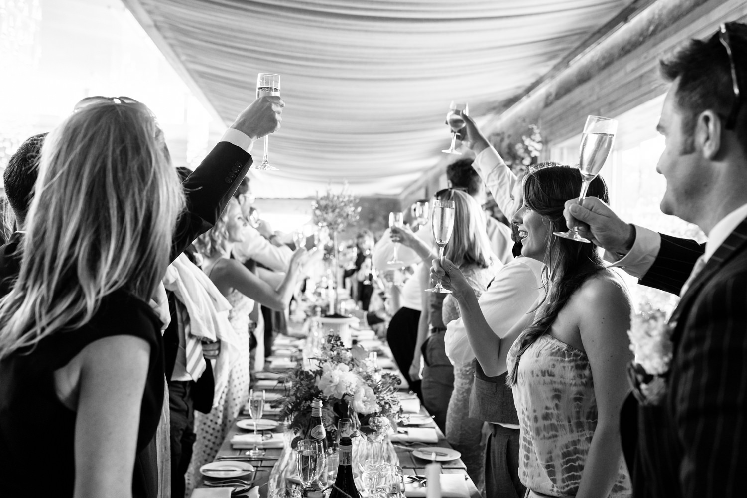 wedding toasts in the gillyflower at elmore court