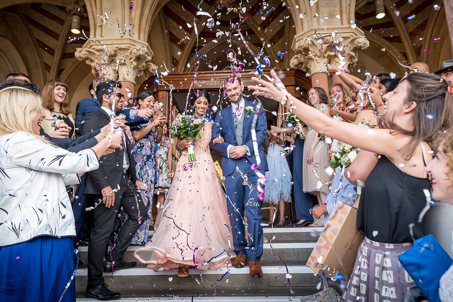 confetti at winchester guildhall