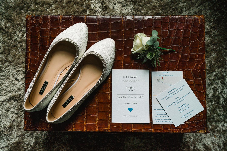 Brides shoes at Penton Park