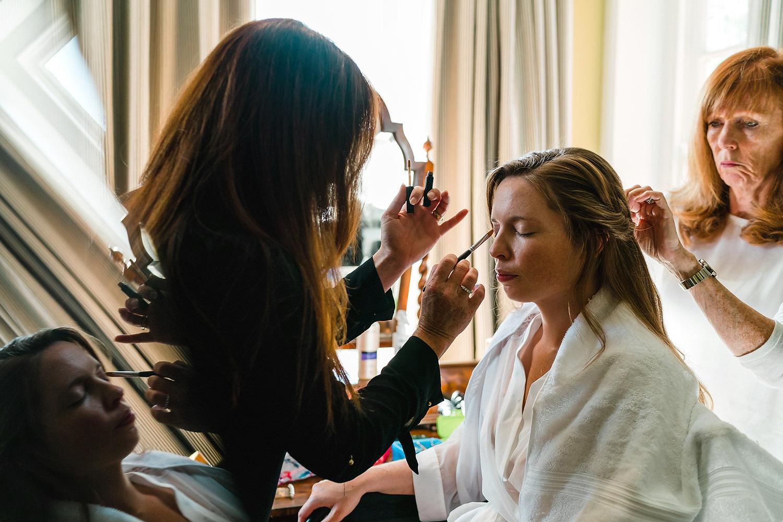 make up at dorset wedding