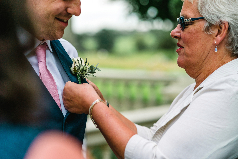 grooms buttonhole at Penton Park Wedding