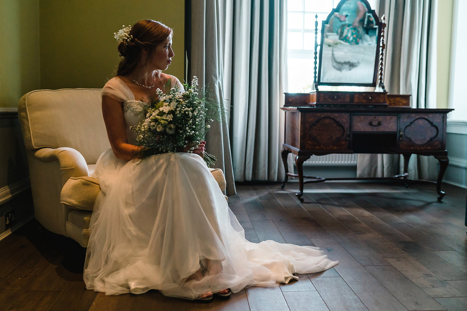 Bride at The Old Vicarage Wedding