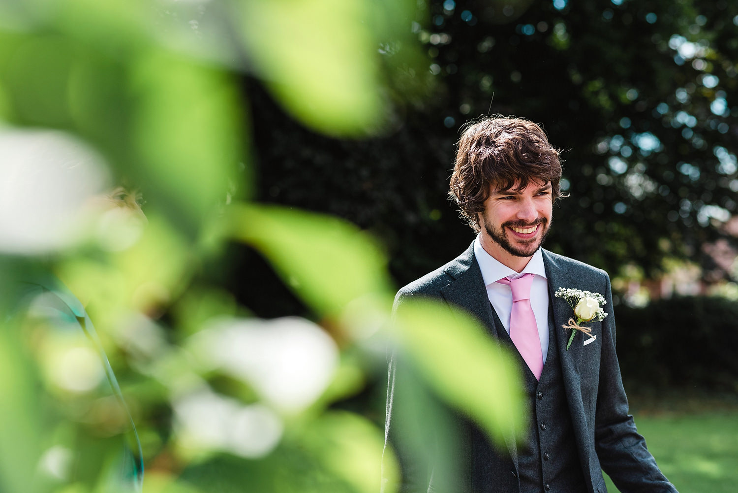 Groom at The Old Vicarage Wedding