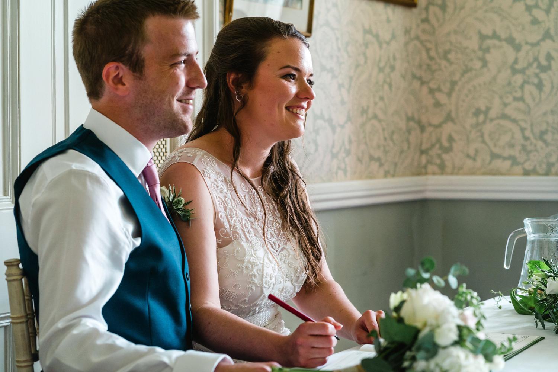 wedding ceremony at penton park wedding