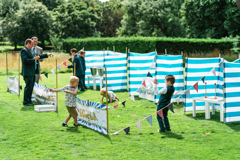 Penton Park Wedding garden games