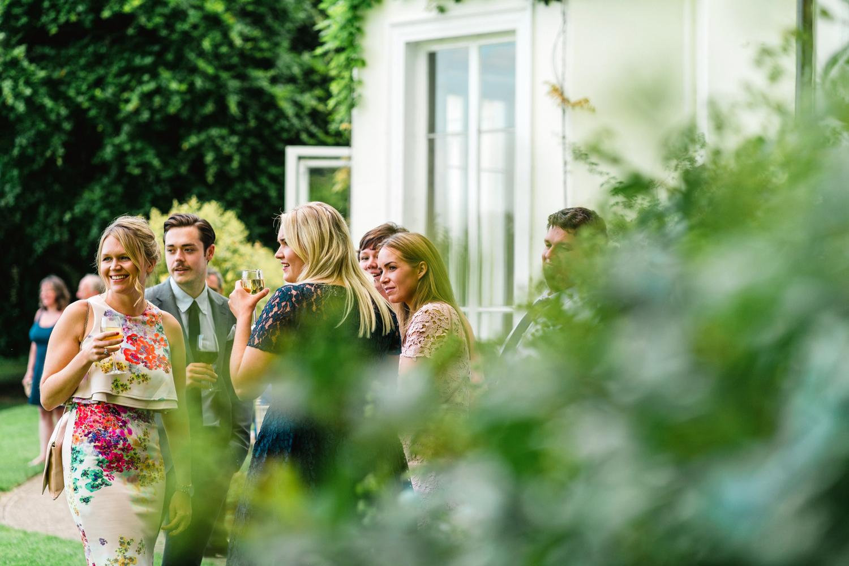 wedding guests at penton park