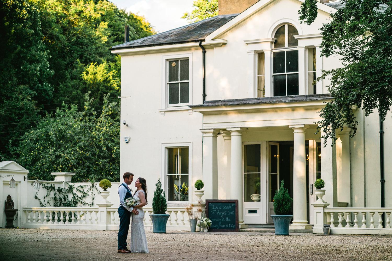 Bride and Groom at Penton Park Wedding