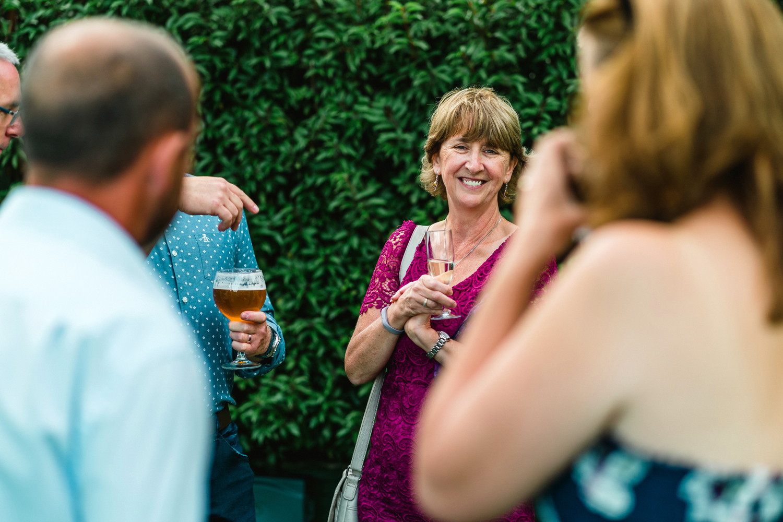 wedding guests laughing at penton park