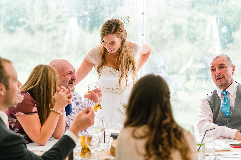 bride with wedding guest