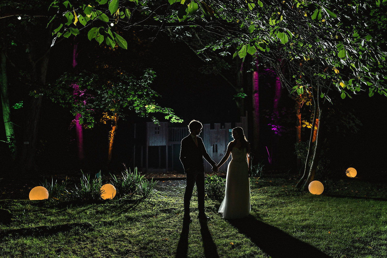 Night shot at The old vicarage wedding