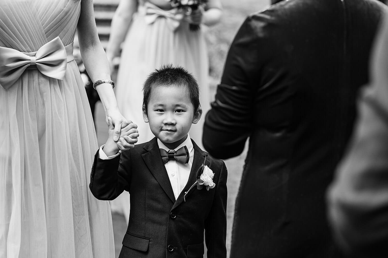 pageboy at rhinefield house wedding