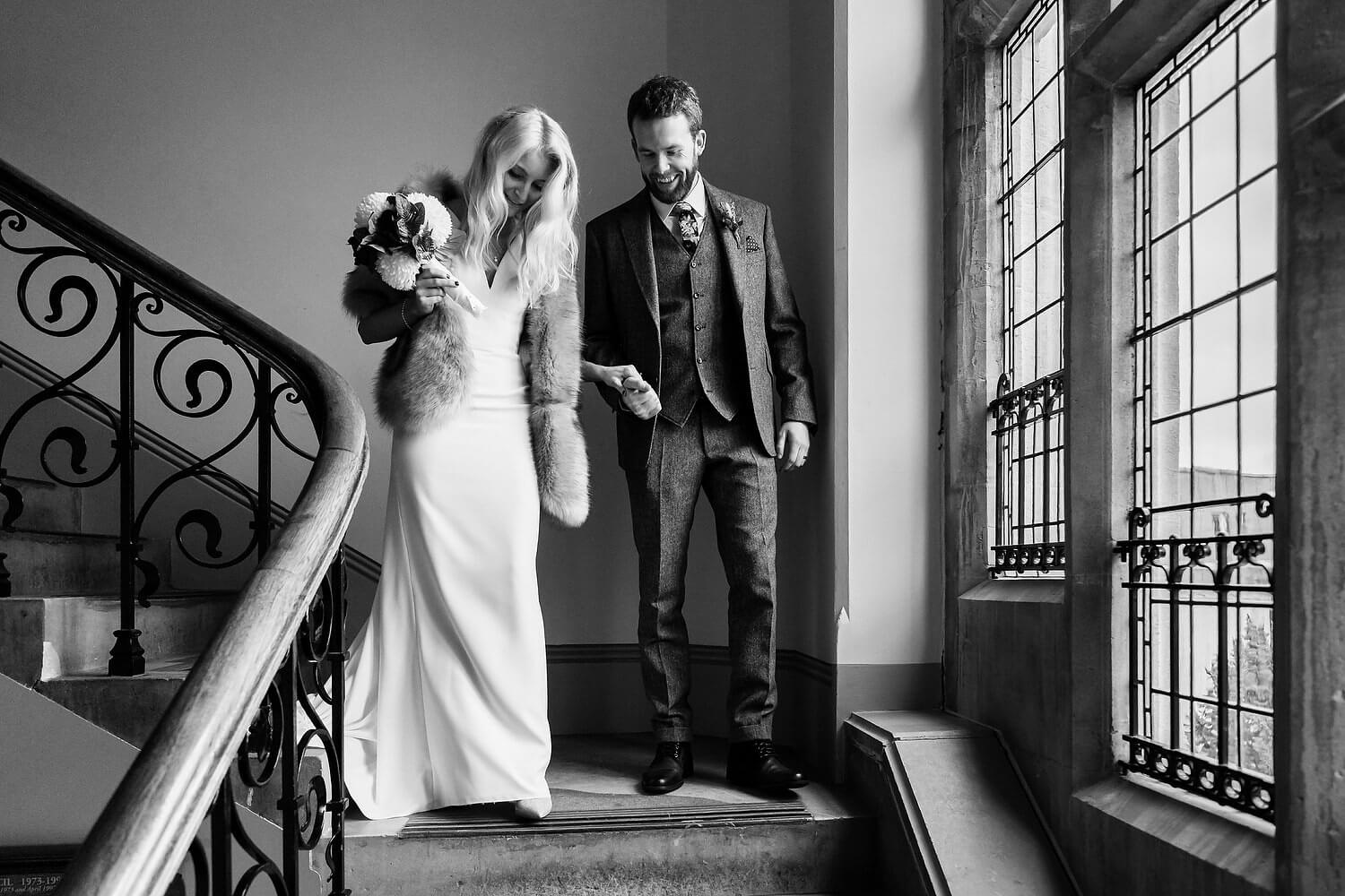 bride and groom at winchester registry office