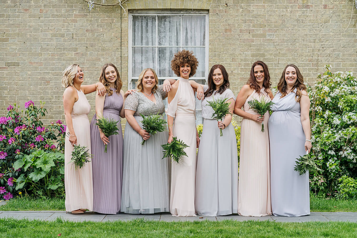 bridesmaids at new forest wedding