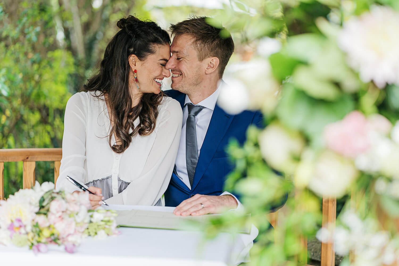 bride and groom at gordleton mill wedding