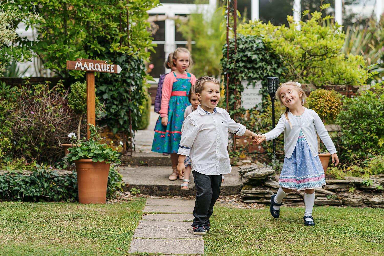 children at gordleton mill wedding