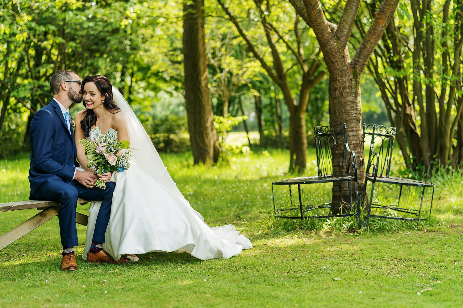 bride and groom at the old vicarage in christchurch