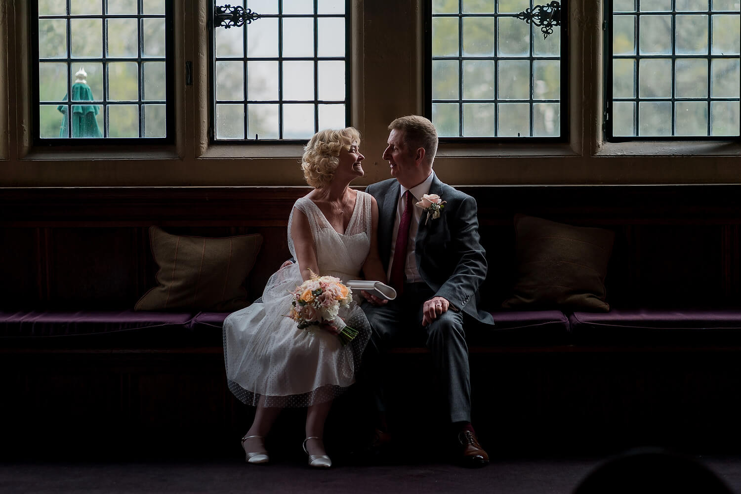 older couple get married at rhinefield house
