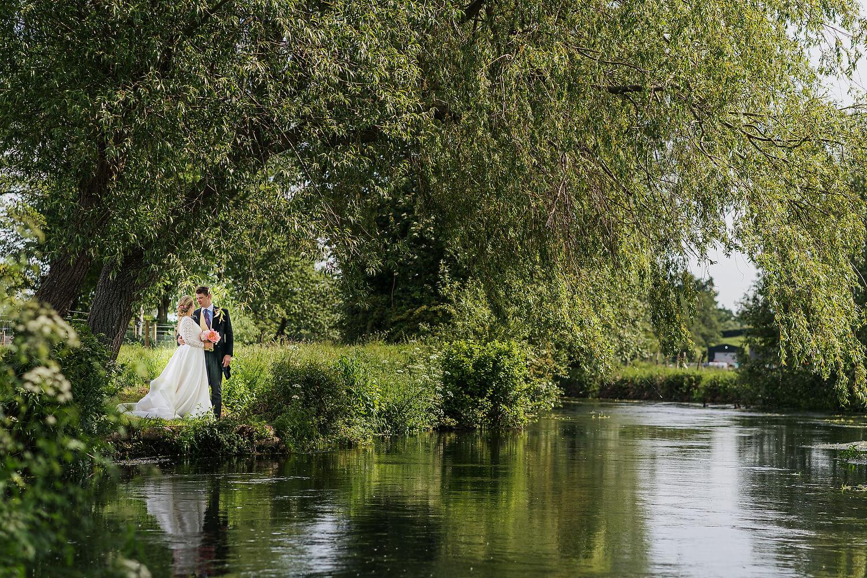 bride and groom in romsey