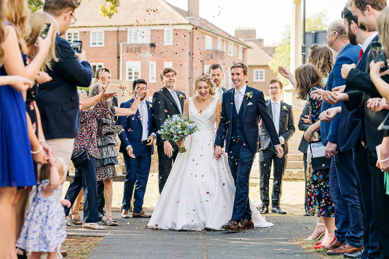 confetti at southampton wedding