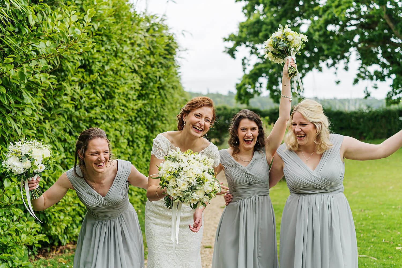 bride and bridesmaids at master builders wedding
