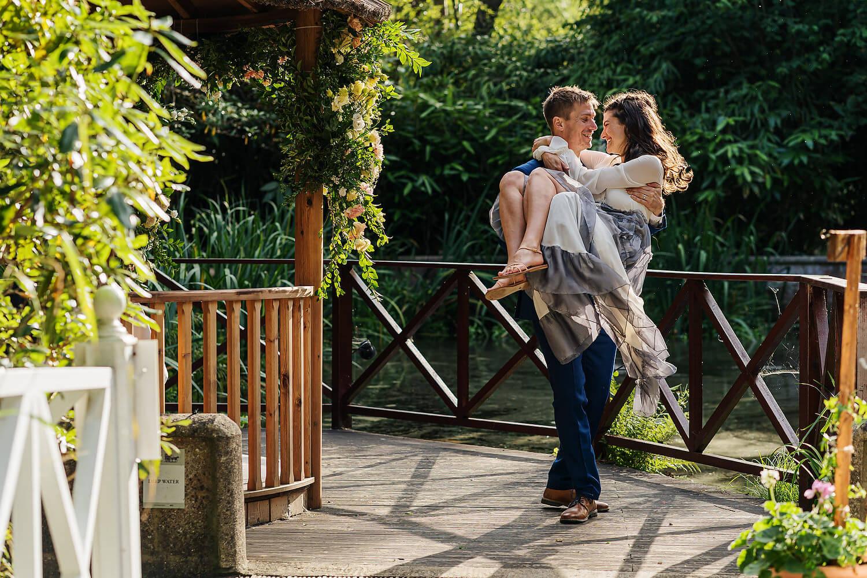summer wedding at gordleton mill