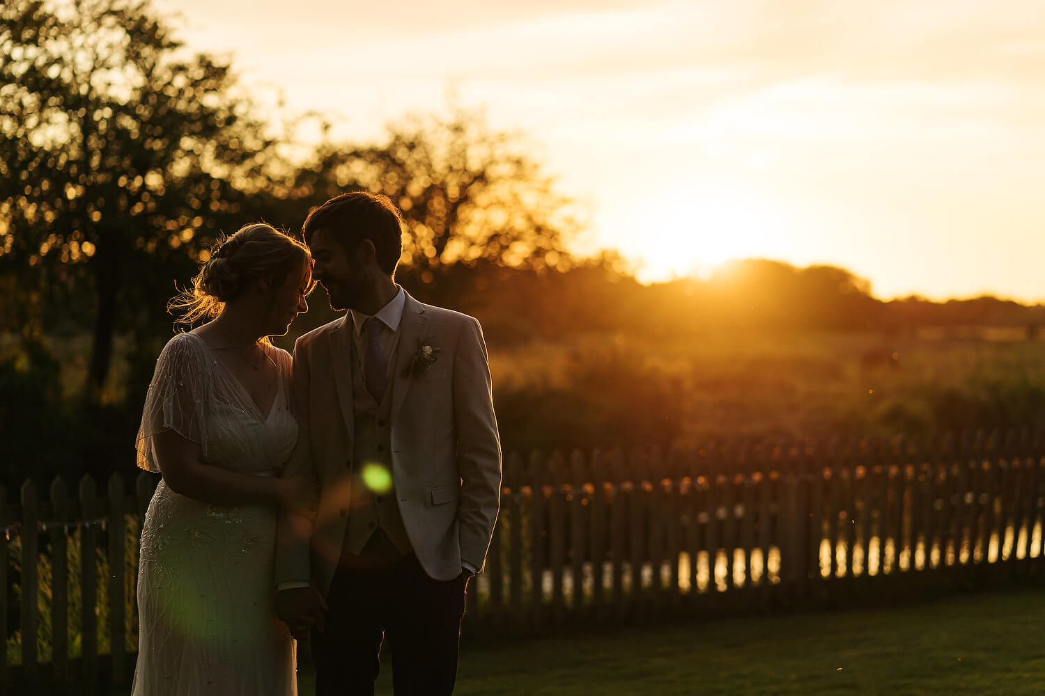 bride and groom at sopley mill