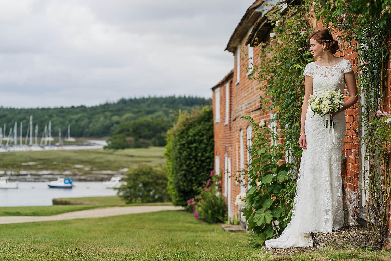 bride at bucklers hard wedding