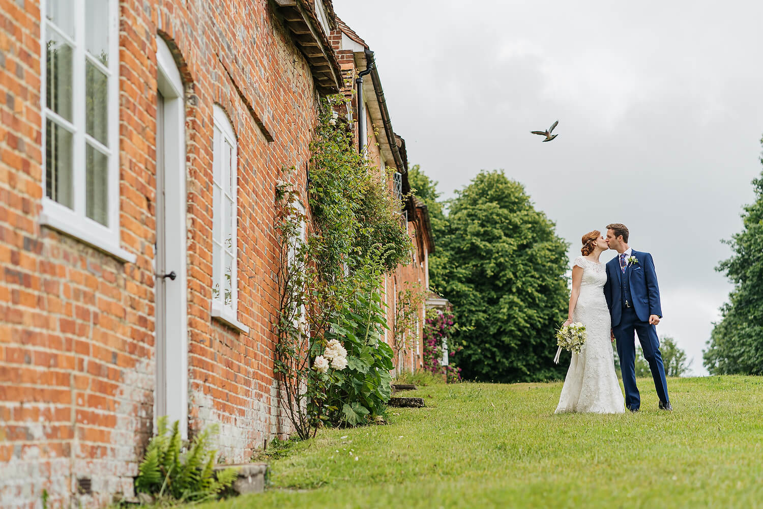 bride and groom at the master builders