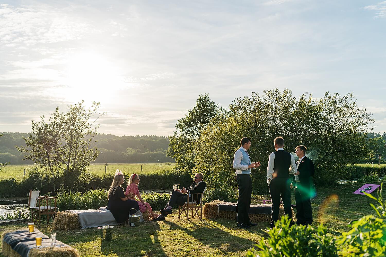 outdoor wedding romsey