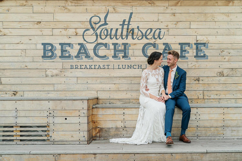 southsea beach cafe wedding