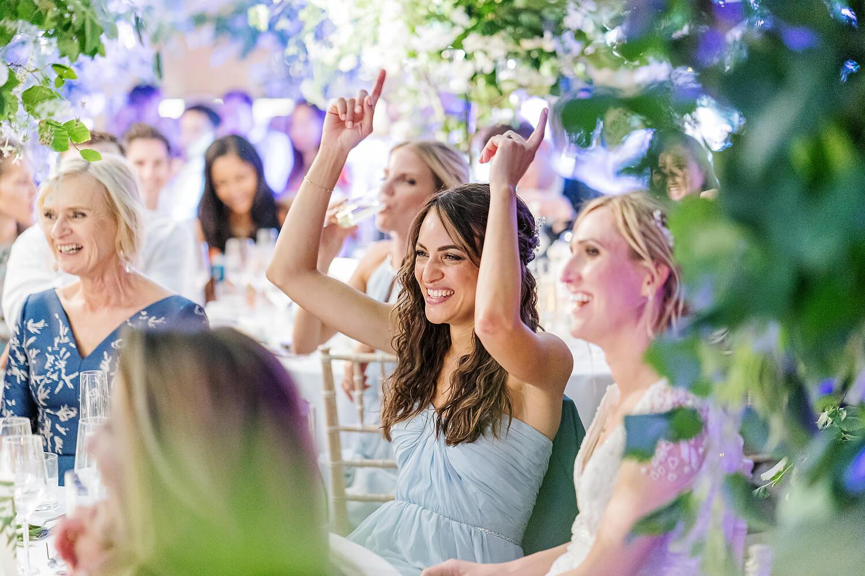 bridesmaid at axnoller wedding
