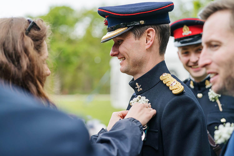 military wedding at tournerbury woods estate