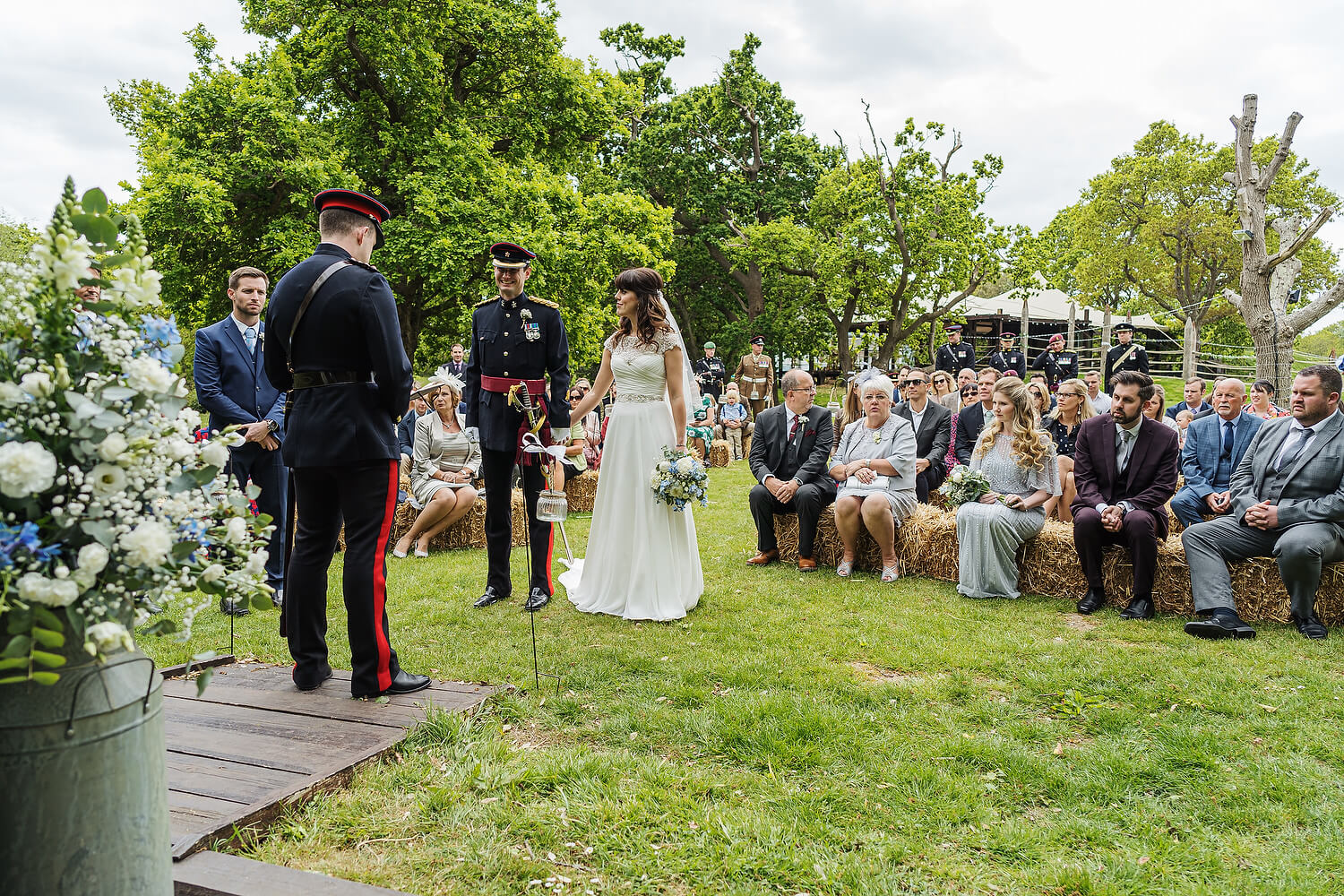 outdoor wedding at tournerbury woods estate