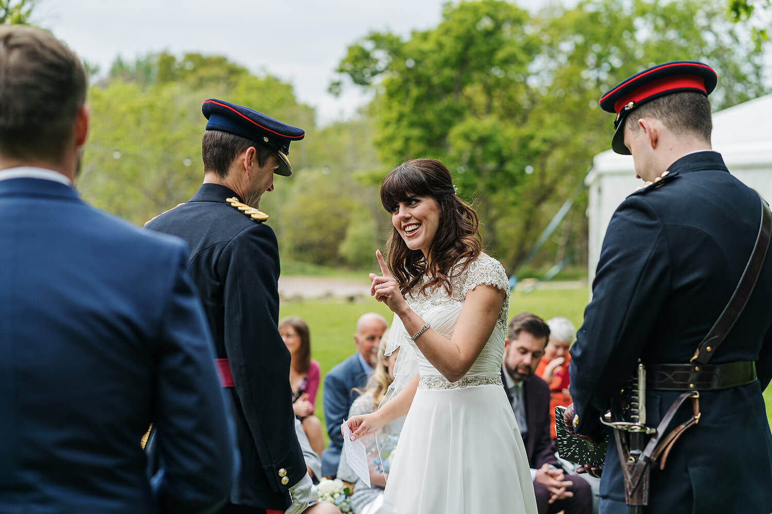 wedding ceremony at tournerbury woods estate