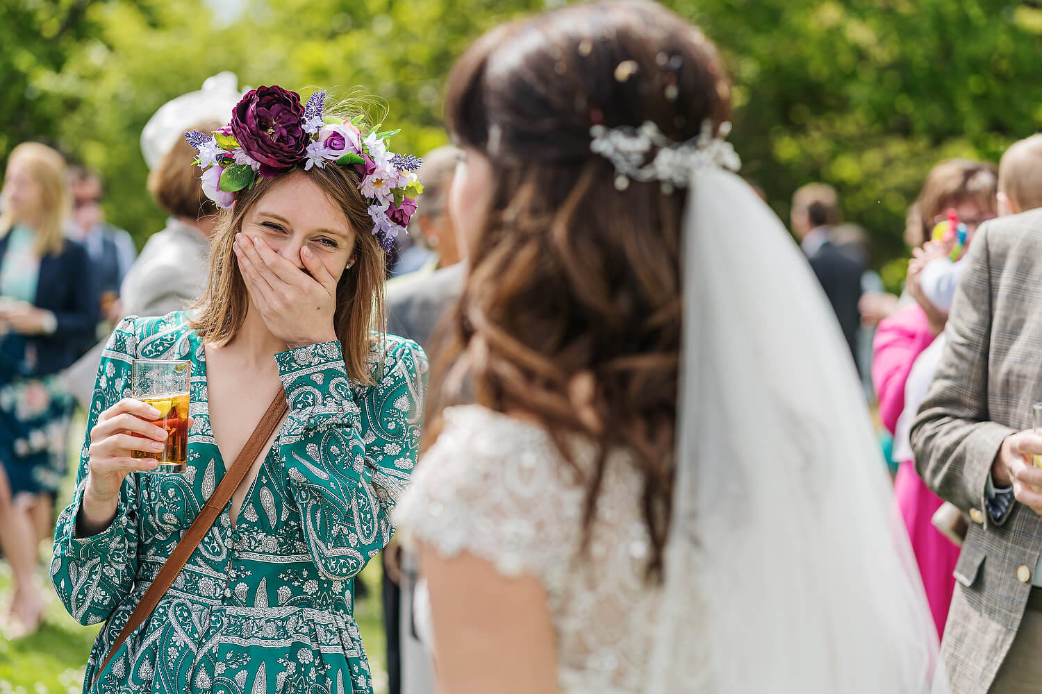wedding guest with brides