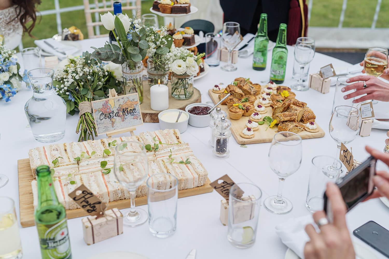 wedding breakfast tournerbury woods