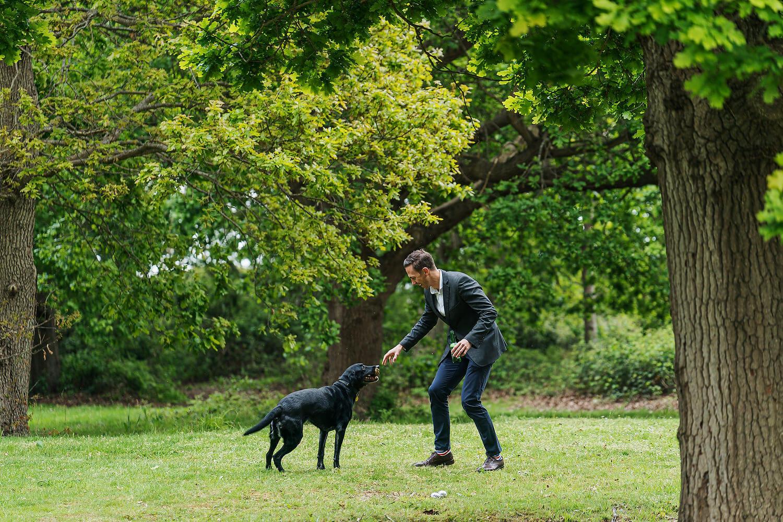 wedding guest and dog tournerbury woods estate