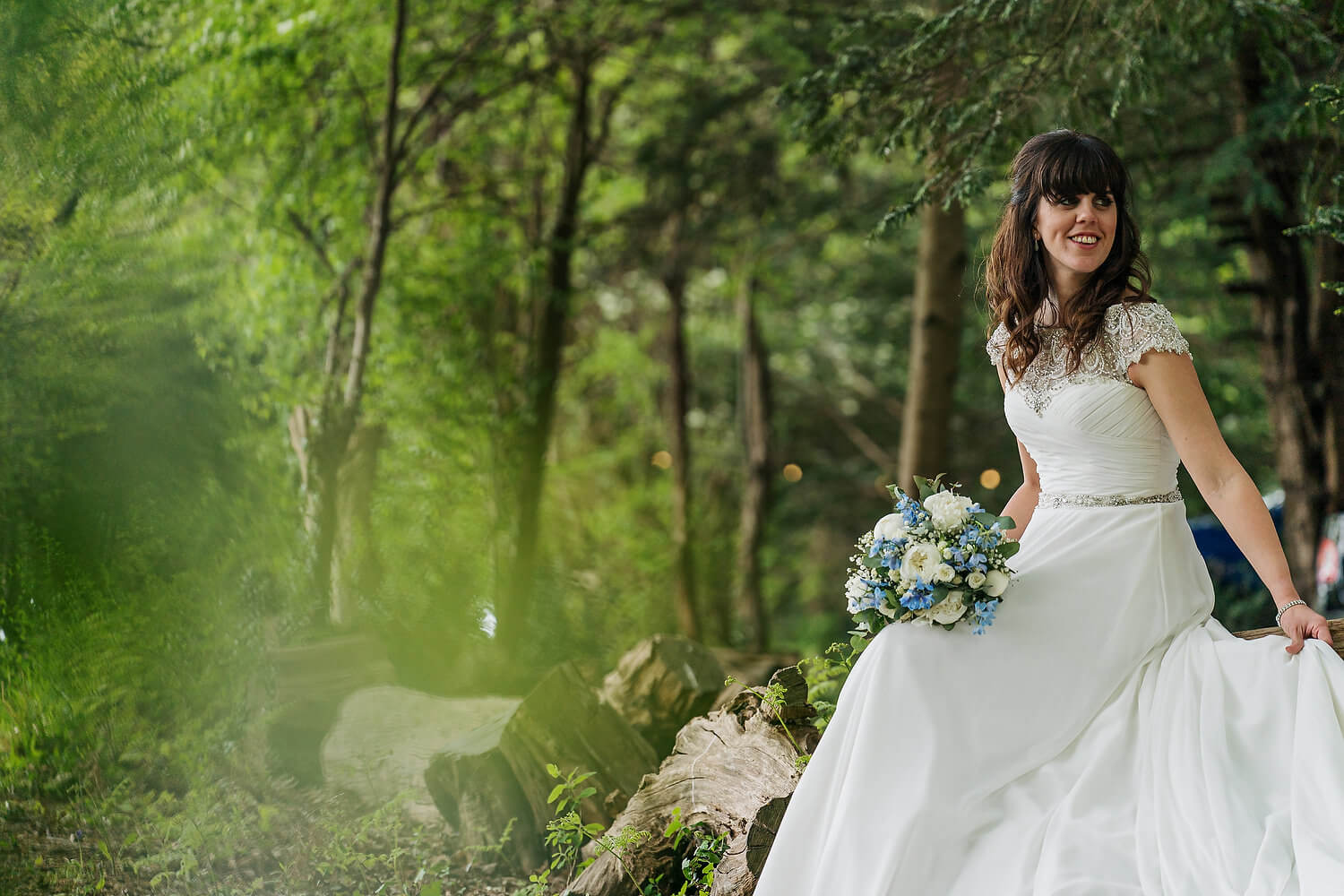 bride portrait tournerbury woods estate