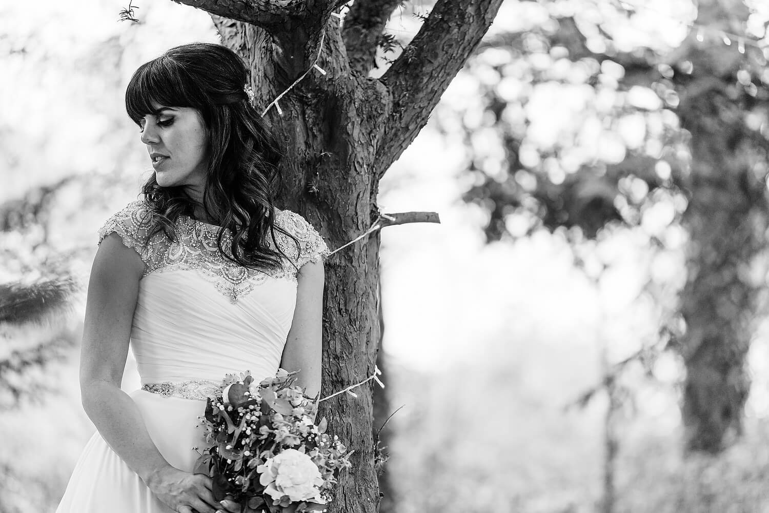 bride at tournerbury woods estate
