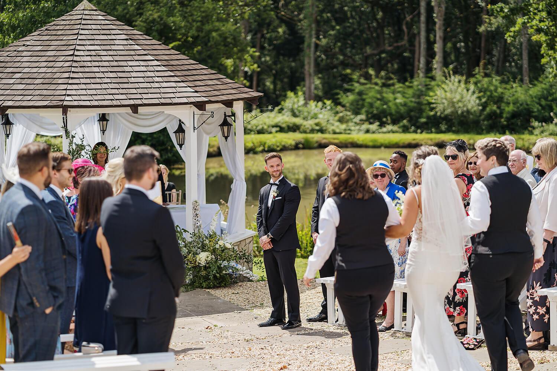 outdoor wedding in surrey