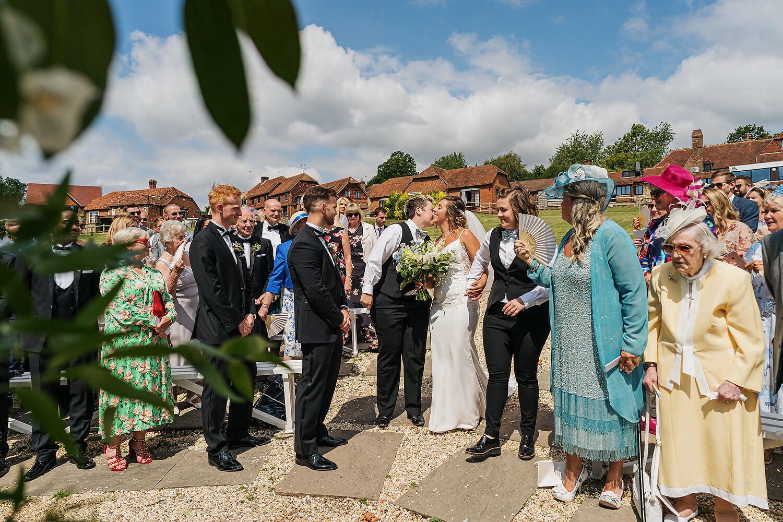 outdoor wedding ceremony surrey